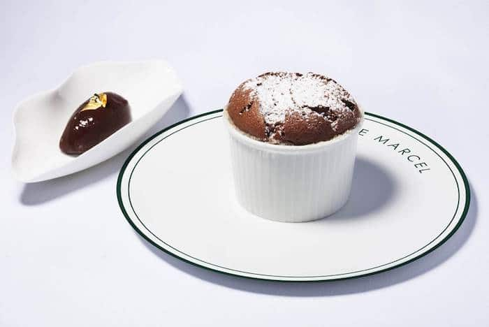 Soufflé au chocolat de Fabien Fage
