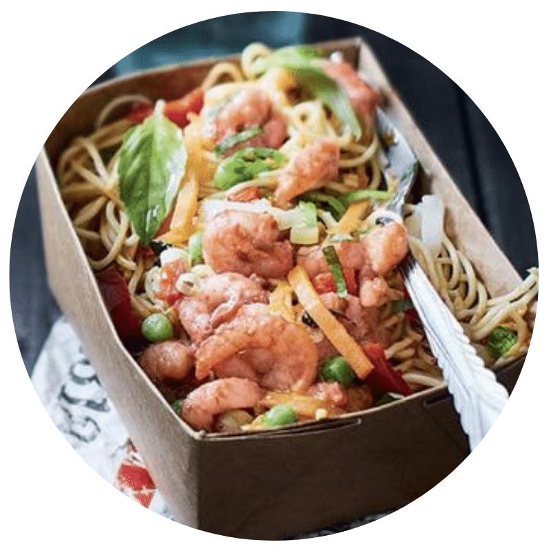 Noodle box crevettes