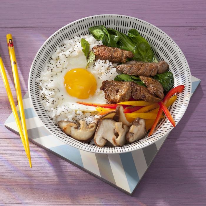 recette de Bibimpap coréen