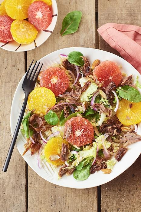 recette de Salade de confit de canard