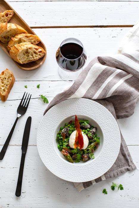 recette de Poêlée d'asperges aux morilles