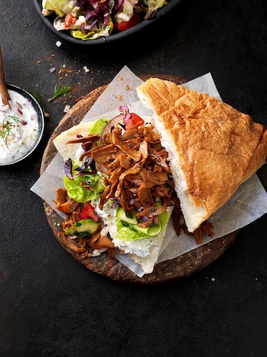 Sandwich aux effilochés Le bon Végétal Herta