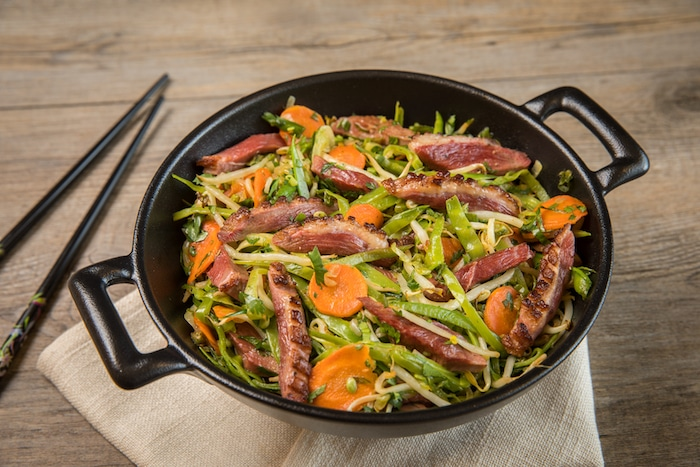 Tendre magret en wok