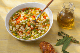 Minestrone aux légumes printaniers