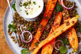 Salade de carottes aux lentilles
