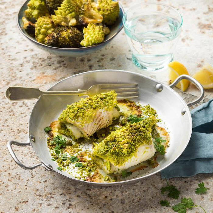 recette de Carrelet en croûte de pistaches