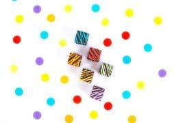 Cubes pop au chocolat