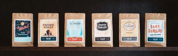 cafés d'assemblage Belleville Brûlerie