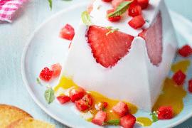 Panna cotta de Chavroux ® aux fraises