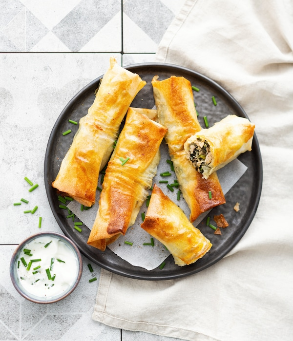 recette de Rouleaux croquants aux épinards