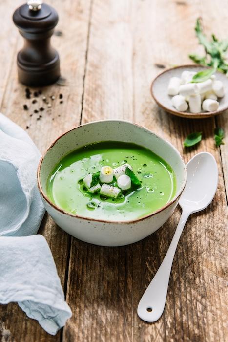 recette de Bouillon vert au chèvre