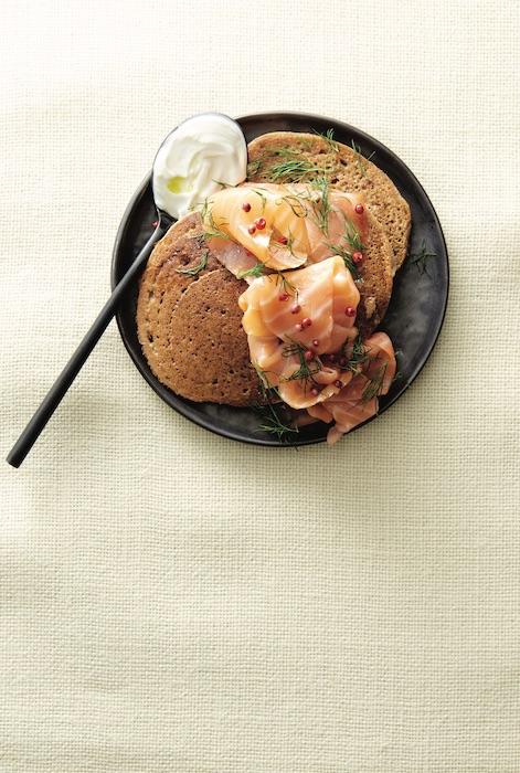 recette de Pancakes salés à la patate douce