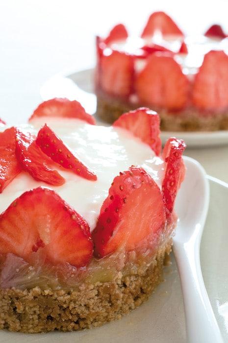 recette de Cheesecake fraise rhubarbe