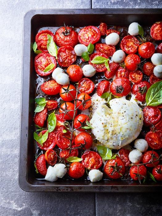 recette de Salade de tomates rôties