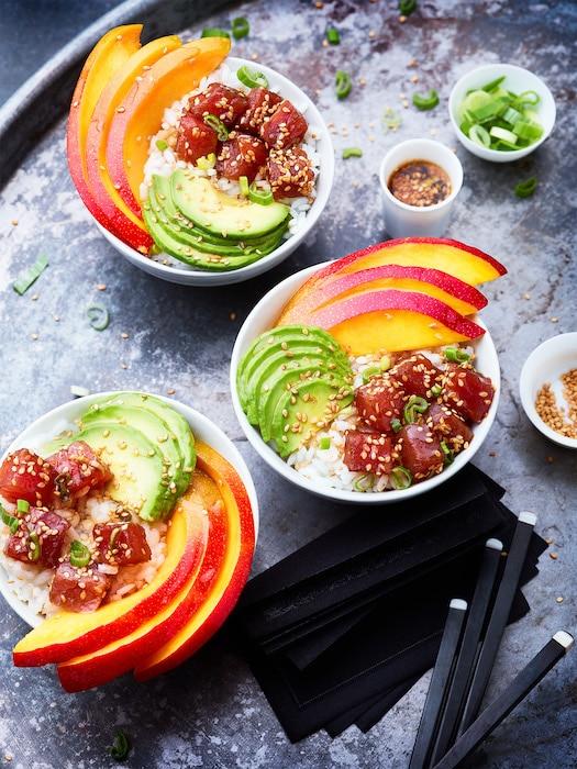 recette de Poke bowl mangue-avocat