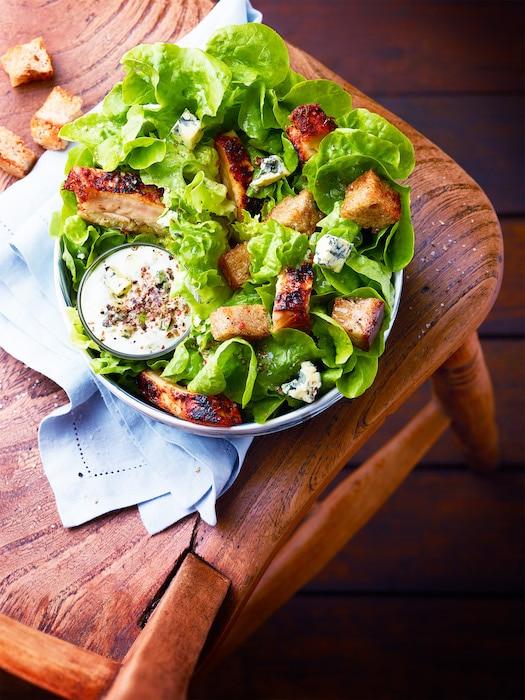 recette de Salade façon César au poulet