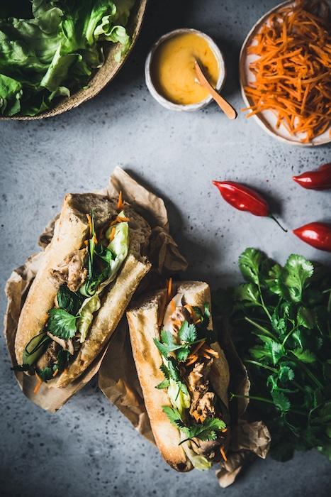 recette de Banh Mi au lapin