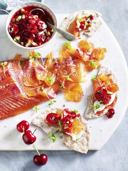 recette de Saumon gravlax au gingembre