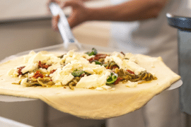 Des pizzas chez Lionel Levy
