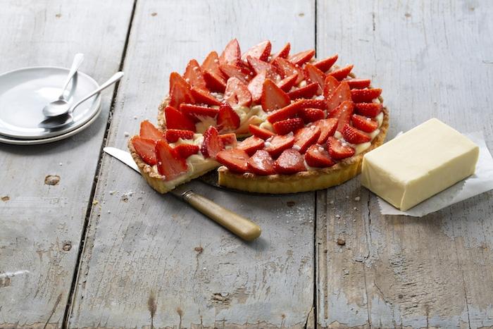 recette de Tarte aux fraises sur sablé