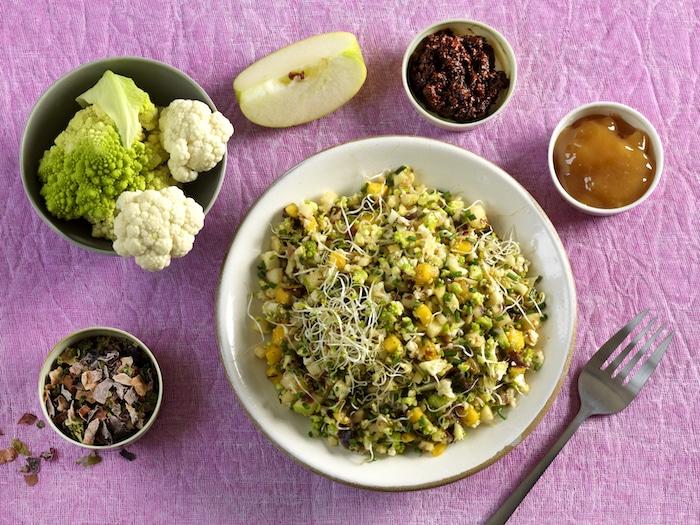 recette de Taboulé de choux multicolores