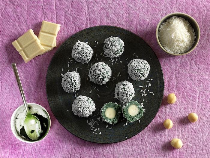 recette de Truffes de chocolat blanc et coco