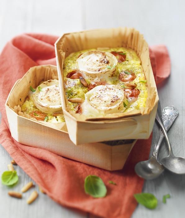 recette de Petits clafoutis aux tomates cerises