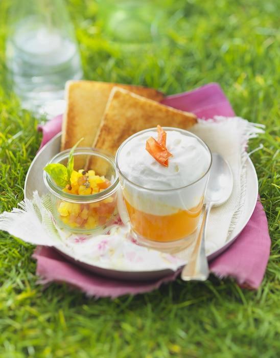 recette de Soupe de tomate jaune