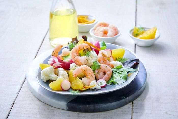 recette de Salade de crevettes bio