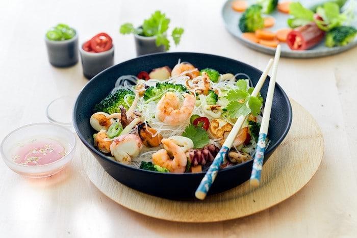 recette de Salade de fruits de mer aux légumes