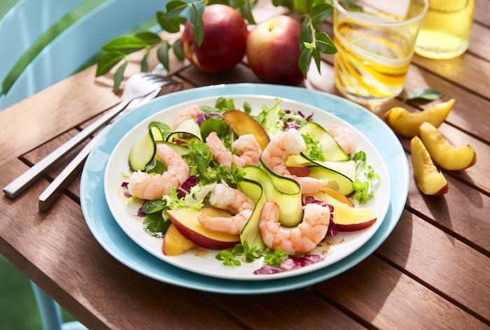 recette de Salade de crevettes et nectarines