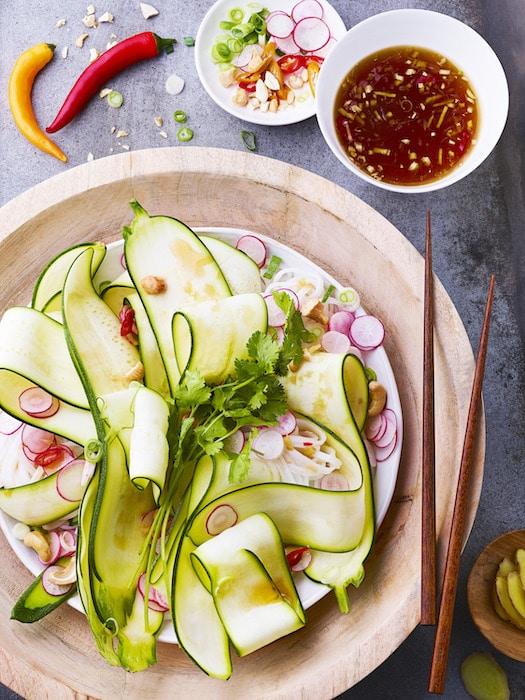 recette de Salade de courgette à l'asiatique