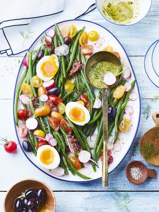 recette de Salade bistrot aux haricots verts