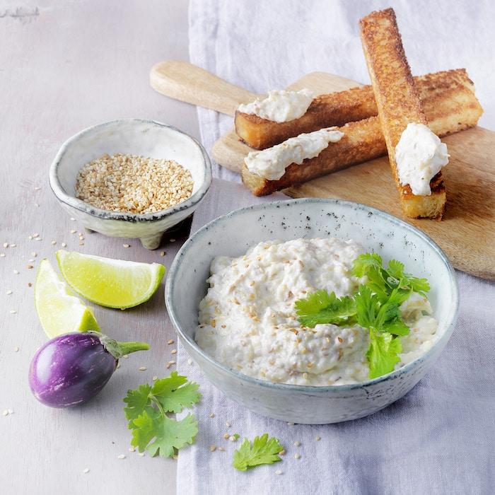 recette de Caviar d'aubergine au St Môret