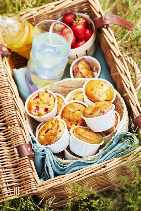 recette de muffins fraises et basilic