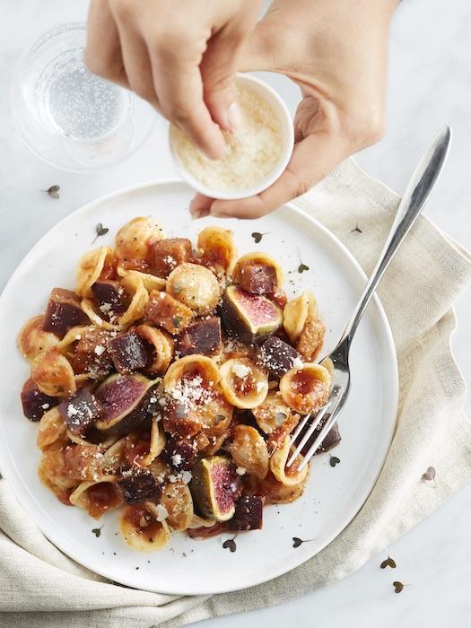 recette d'Orecchiette aux aubergines