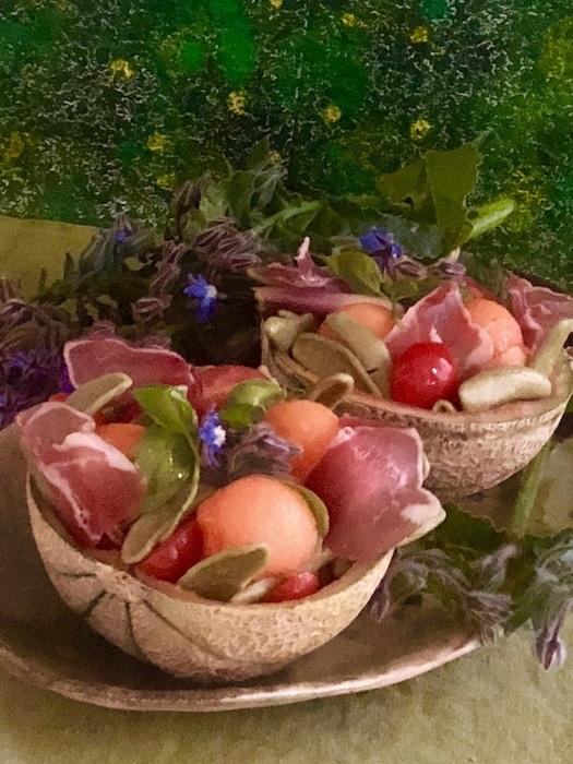 recette de Salade de melon à l'italienne