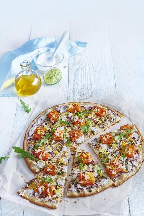 recette de Pizza au saumon