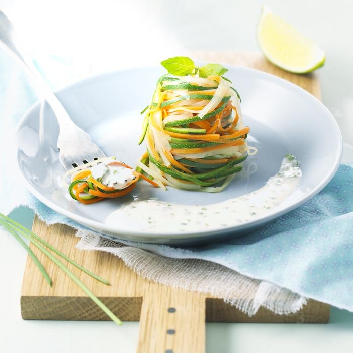 recette de Tagliatelles de légumes au St Môret