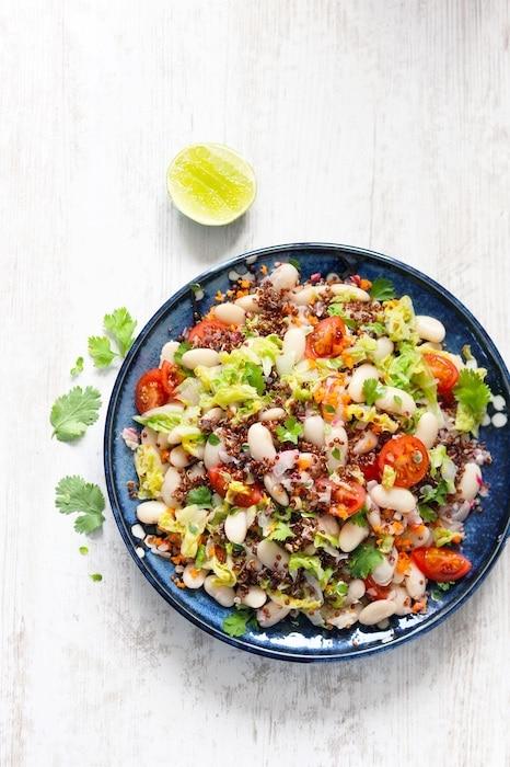 recette de Salade de Haricots Tarbais et quinoa