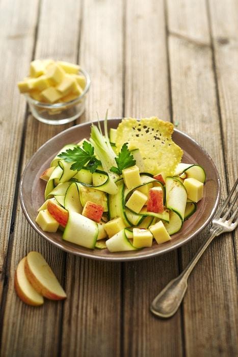 recette de Salade croquante de courgettes à la Raclette
