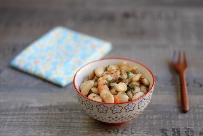 recette de haricots Tarbais aux crevettes roses