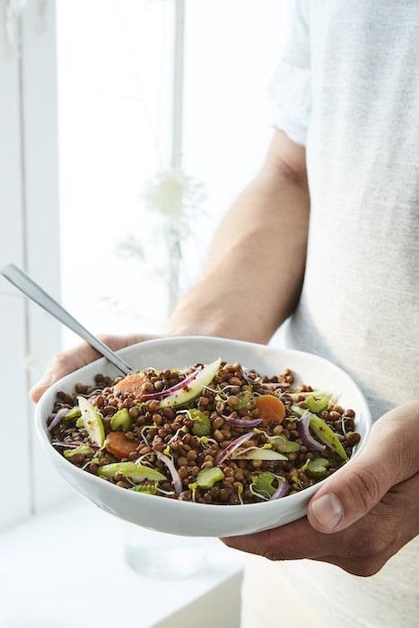 recette de Salade vitaminée de lentilles