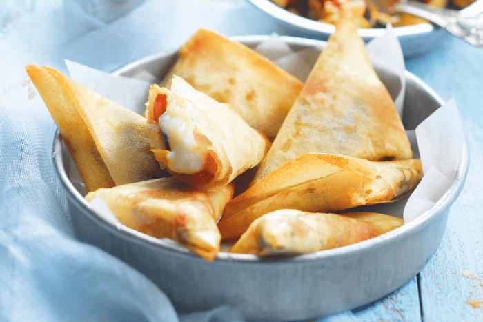 Samossas aux légumes grillés