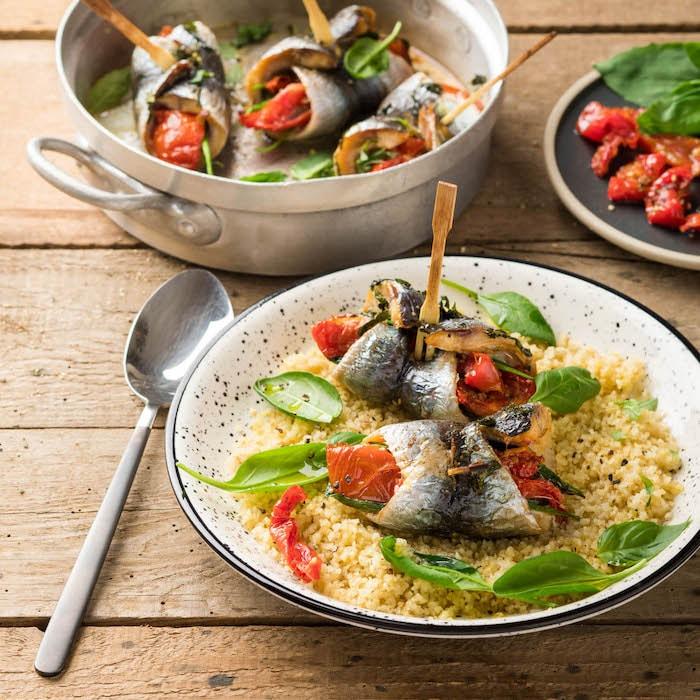 recette de Filets de sardines farcis aux tomates