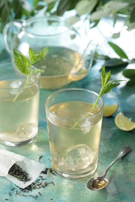 Thé vert pétillant