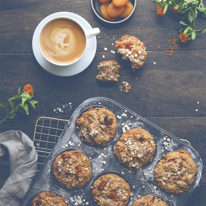 recette de Muffins aux amandes et aux abricots