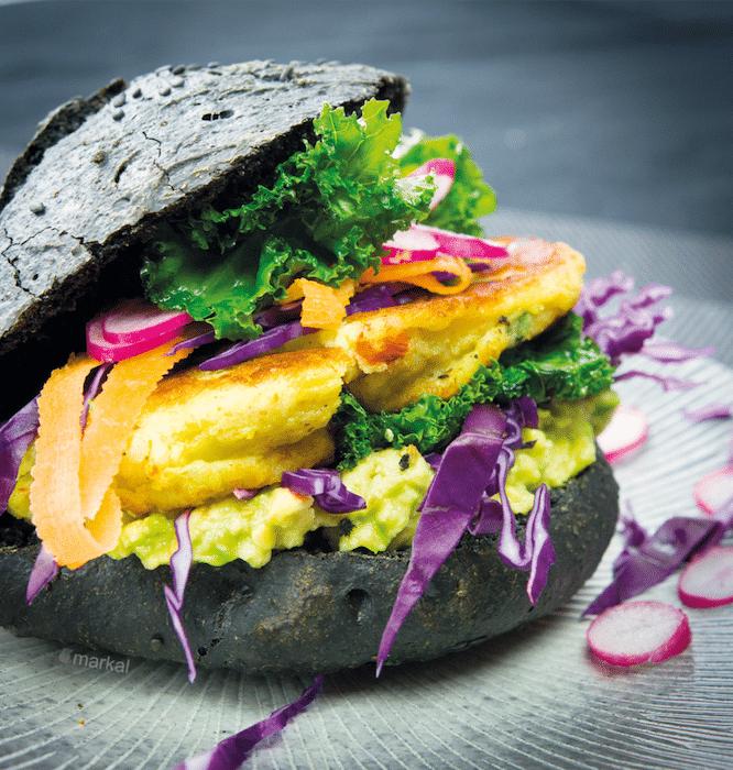 recette d'Aloo tikki black burger
