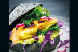 Aloo tikki black burger