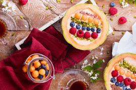 Melon smoothie bowl